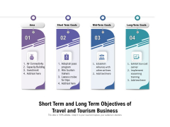 Short Term And Long Term Objectives Of Travel And Tourism Business Ppt PowerPoint Presentation Icon Show PDF