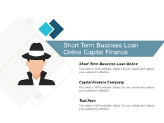 Short Term Business Loan Online Capital Finance Company Ppt PowerPoint Presentation Layouts Rules