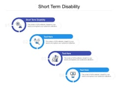 Short Term Disability Ppt PowerPoint Presentation Portfolio Graphic Images Cpb