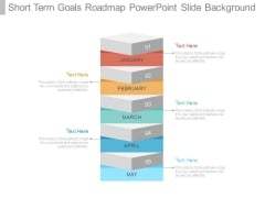 Short Term Goals Roadmap Powerpoint Slide Background