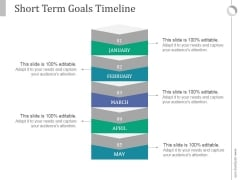 Short Term Goals Timeline Ppt PowerPoint Presentation Model