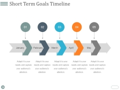Short Term Goals Timeline Ppt PowerPoint Presentation Professional Designs Download