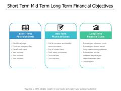 Short Term Mid Term Long Term Financial Objectives Ppt PowerPoint Presentation Portfolio Format Ideas
