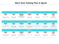 Short Term Training Plan In Sports Ppt PowerPoint Presentation File Example Introduction