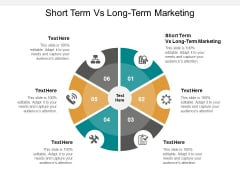 short term vs long term marketing ppt powerpoint presentation model graphic tips cpb