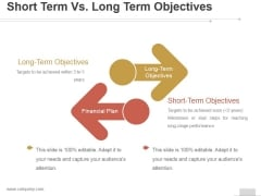Short Term Vs Long Term Objectives Ppt PowerPoint Presentation Background Image