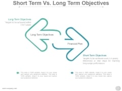 Short Term Vs Long Term Objectives Ppt PowerPoint Presentation Styles