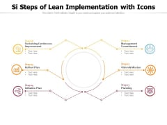 Si Steps Of Lean Implementation With Icons Ppt PowerPoint Presentation File Portfolio PDF