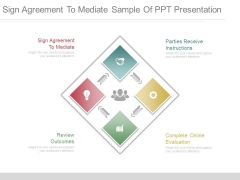 Sign Agreement To Mediate Sample Of Ppt Presentation