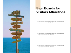 Sign Boards For Visitors Attractions Ppt PowerPoint Presentation Gallery Structure