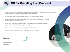 Sign Off For Branding Plan Proposal Ppt Pictures Skills PDF