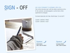 Sign Off Management Ppt PowerPoint Presentation Inspiration