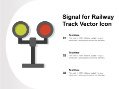 Signal For Railway Track Vector Icon Ppt PowerPoint Presentation Gallery Objects PDF