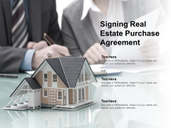 Signing Real Estate Purchase Agreement Ppt PowerPoint Presentation Pictures Graphics Example