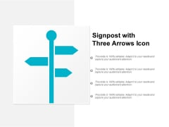 Signpost With Three Arrows Icon Ppt Powerpoint Presentation Gallery Skills