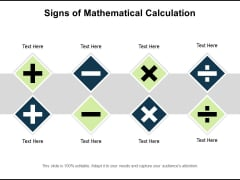 Signs Of Mathematical Calculation Ppt PowerPoint Presentation Icon Pictures PDF