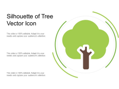 Silhouette Of Tree Vector Icon Ppt PowerPoint Presentation Ideas PDF