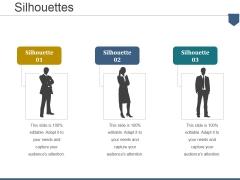 Silhouettes Ppt PowerPoint Presentation Portfolio Icons