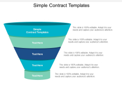 Simple Contract Templates Ppt PowerPoint Presentation Infographics Clipart Images Cpb