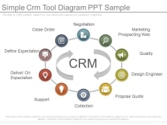 Simple Crm Tool Diagram Ppt Sample