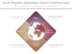 Simple Geographic Segmentation Diagram Powerpoint Layout