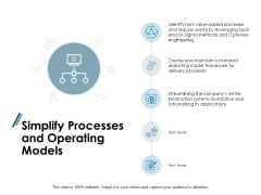 Simplify Processes And Operating Models Ppt PowerPoint Presentation Inspiration Picture