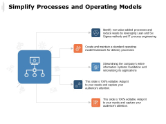 Simplify Processes And Operating Models Ppt PowerPoint Presentation Summary Slides