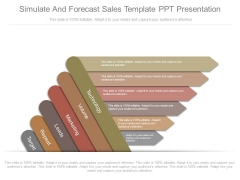 Simulate And Forecast Sales Template Ppt Presentation