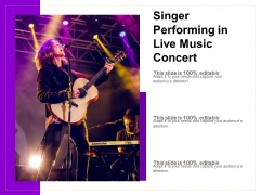 Singer Performing In Live Music Concert Ppt PowerPoint Presentation Gallery Slide Download PDF