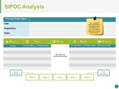 Sipoc Analysis Ppt PowerPoint Presentation Inspiration Diagrams