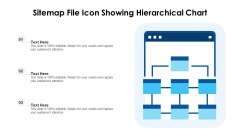 Sitemap File Icon Showing Hierarchical Chart Ppt PowerPoint Presentation File Show PDF