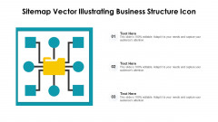 Sitemap Vector Illustrating Business Structure Icon Ppt PowerPoint Presentation Gallery Maker PDF