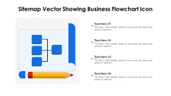 Sitemap Vector Showing Business Flowchart Icon Ppt PowerPoint Presentation Gallery Infographic Template PDF