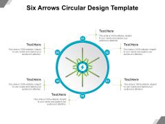 Six Arrows Circular Design Template Ppt PowerPoint Presentation File Format Ideas PDF