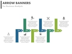Six Arrows For Global Business Growth And Analysis Powerpoint Template