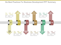 Six Best Practices For Business Development Ppt Summary