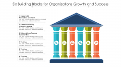 Six Building Blocks For Organizations Growth And Success Ppt PowerPoint Presentation Gallery Grid PDF