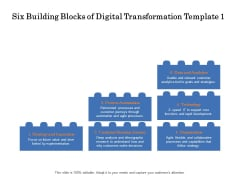 Six Building Blocks Of Digital Transformation Analytics Ppt PowerPoint Presentation Summary Templates PDF