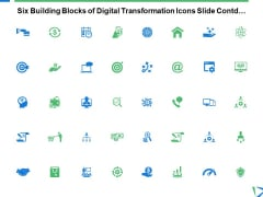 Six Building Blocks Of Digital Transformation Icons Slide Contd Ppt PowerPoint Presentation Portfolio Professional