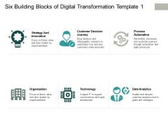 Six Building Blocks Of Digital Transformation Technology Ppt PowerPoint Presentation Show Deck