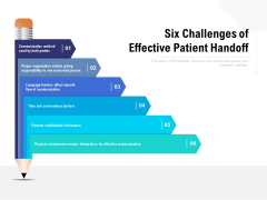 Six Challenges Of Effective Patient Handoff Ppt PowerPoint Presentation Summary