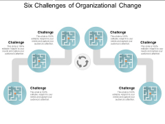 Six Challenges Of Organizational Change Ppt PowerPoint Presentation Infographics
