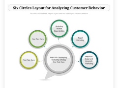 Six Circles Layout For Analyzing Customer Behavior Ppt PowerPoint Presentation Gallery Topics PDF