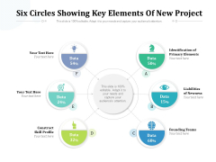 Six Circles Showing Key Elements Of New Project Ppt PowerPoint Presentation Gallery Graphics PDF