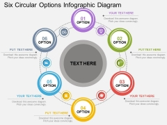 Six Circular Options Infographic Diagram Powerpoint Template