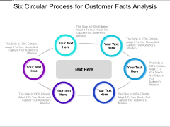 Six Circular Process For Customer Facts Analysis Ppt PowerPoint Presentation Ideas Format PDF
