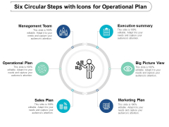 Six Circular Steps With Icons For Operational Plan Ppt Powerpoint Presentation Professional Smartart