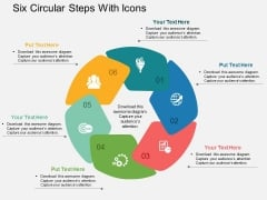 Six Circular Steps With Icons Powerpoint Template