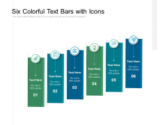 Six Colorful Text Bars With Icons Ppt PowerPoint Presentation Styles Outfit