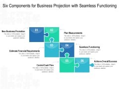 Six Components For Business Projection With Seamless Functioning Ppt PowerPoint Presentation Gallery Smartart